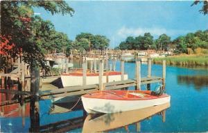 Long Island New York~School House Creek~Outboard Motor Boats~1950s-1970s Chrome