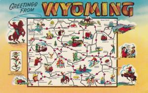 Map , Wyoming , 50-60s #2