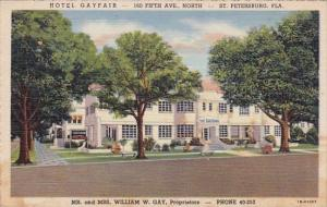 Florida Saint Petersburg Hotel Gayfair 160 Fifth Avenue North 1946