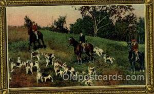 Hunting, Hunters, Old Vintage Antique Postcards Post Cards