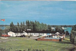 Classic Cars, Swimming Pool, Seaway Motel, St. Lawrence River, East Brockvill...