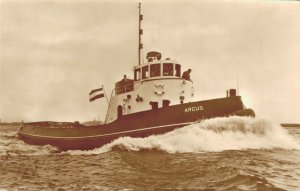 Tugboats Ships M.T Zwarte Zee M.T Elbe and more RPPC Postcard Lot of 8 01.17