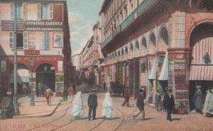 Rue Bab Street Algeria Postcard