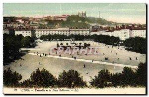 Old Postcard Lyon Bellecour Square Set
