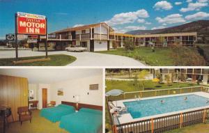 3-Views, Telstar Motor Inn, Swimming Pool, Penticton, British Columbia, Canad...