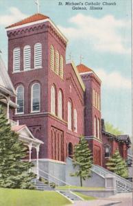 Illinois Galena St Michael's Catholic Church Curteich