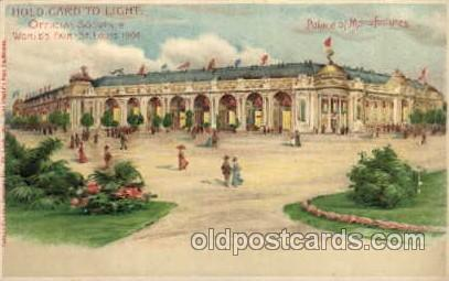 Hold To Light, Official Souvenir, St. Louis World's Fair Exposition 1904, Pos...