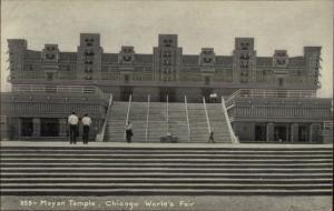 1933 Chicago World's Fair Mayan Temple Postcard