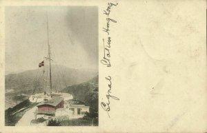 china, HONG KONG, Signal Station (1899) Postcard