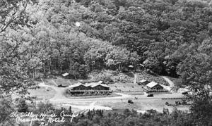 NH - Crawford Notch. The Willey House Camps - RPPC