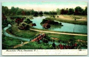 Cleveland Ohio~Rockefeller Park~Children on Wooden Footbridge~1908 IPCC 44-2