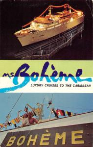 Miami Florida Ms Boheme Luxury Cruise Multiview Vintage Postcard K63736