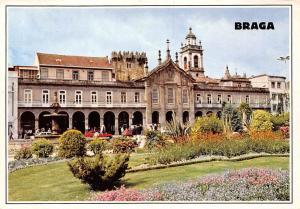 Portugal Braga Place de la Republique et Arcades