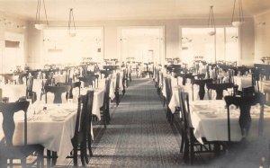 LPS98 Littleton New Hampshire Dining Room Postcard RPPC