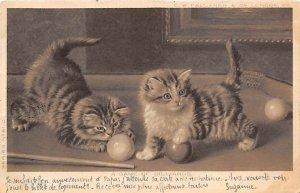 cats, A Game of Billiards Pool Billiards Carte Postale 1903