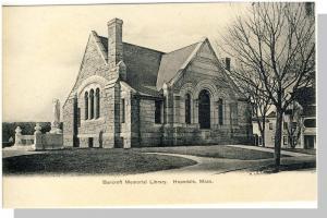 Hopedale, Mass/MA Postcard, Bancroft Memorial Library