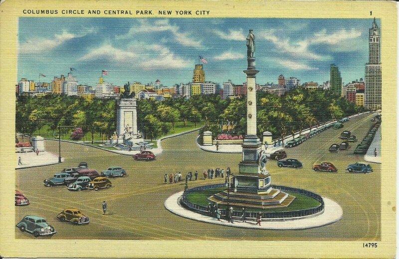 New York City, Columbus Circle and Central Park, New York