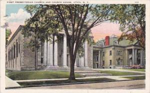 New York Utica First Presbyterian Church  And Church House 1942