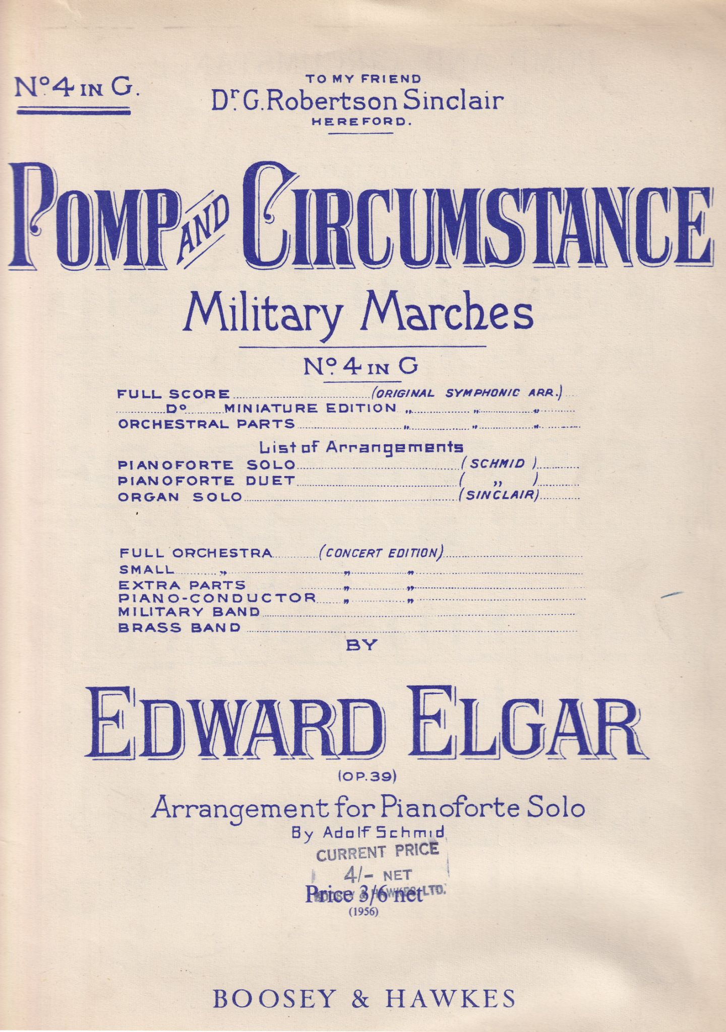 elgar military march piano solo POMP /& CIRCUMSTANCE  4 in G
