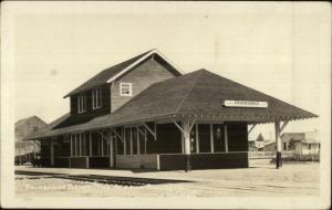 Fairbanks AK RR Train Depot Station c1920 Real Photo Postcard