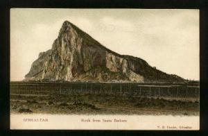 GIBRALTAR - View Of The Rock From Santa Barbara - Unused