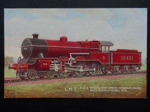 LMS London Midland Scottish Railway LOCO No.10451 SUOERHEATER EXP Old Postcard