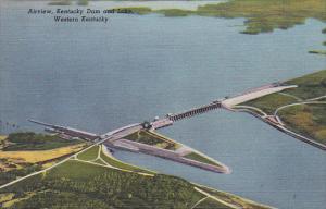 Kentucky Airview Kentucky Dam and Lake Western Kentucky Curteich