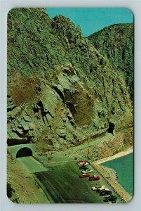 Cody WY- Wyoming, Cody Tunnels, Cody Road Leading Yellowstone, Chrome Postcard
