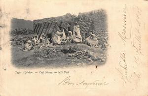 Algeria Cafe Maure Types Algeriens Postcard