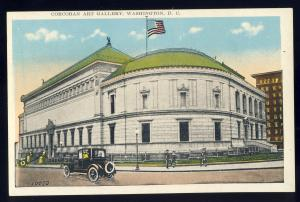 Washington, DC Postcard, The Corcoran Gallery Of Arts, Old Car, Model T?