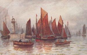 SCARBOROUGH, Yorkshire, England, 1900-1910's; Fishing Fleet