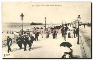 Old Postcard Dieppe Maritime Boulevard