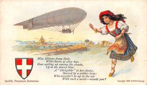 Advertising Post Card Swift's Premium Butterine Blimp Writing on back