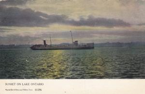 Ship , Sunset on Lake Ontario , Canada , 00-10s