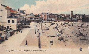 DINARD, Ille Et Vilaine, France, 1900-1910's; La Plage Et La Nouvelle Digue