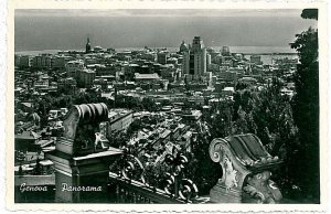 CARTOLINA d'Epoca - GENOVA Città : PANORAMA
