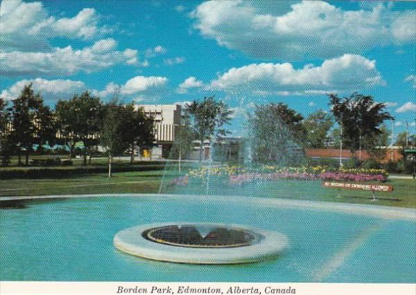 Canada Edmonton Fountain In Borden Park