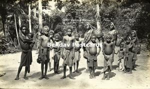 Bismarck Archipelago PNG, New Britain, Group of Native Papua Children (1910s) RP