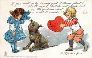 Buster Brown Valentine, Tuck Postcard, Used in 1906, Artist is R. F. Outcault