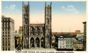 Canada - Quebec, Montreal. Notre Dame Church and Place D'Armes