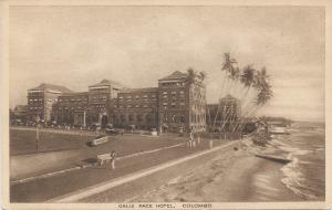 Galle Face Hotel, Colombo, Ceylon, early sepia postcard, Unused
