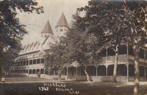 RP: DELAVAN LAKE , Wisconsin, 1911 ; Highland Resort ; #2