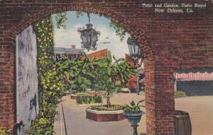 Louisiana New Orleans Patio and Garden Patio Royal 1937