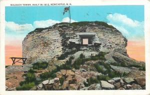 Newcastle New Hampshire~Walbach Tower~1935 Postcard