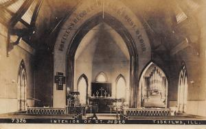 Tiskilwa IL St Jude's Anglican Church~Pipe Organ~Hymnboard~Order Specs RPPC 1910
