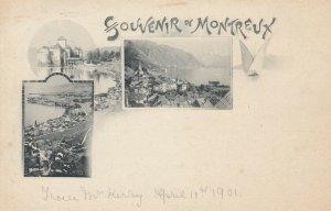 Souvenir de MONTREUX , SWITZERLAND, 1890s