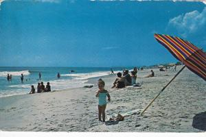 Beach Scene , CAROLINA BEACH , North Carolina , PU-1964