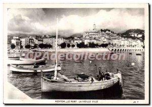 Modern Postcard Port Menton Old Town