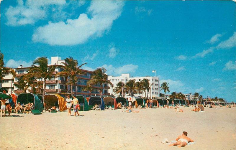 Marlin Beach Hotel Largest Interest Resort Fort Lauderdale Florida Postcard