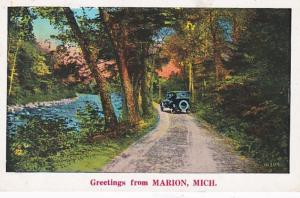 Michigan Greetings From Marion 1931